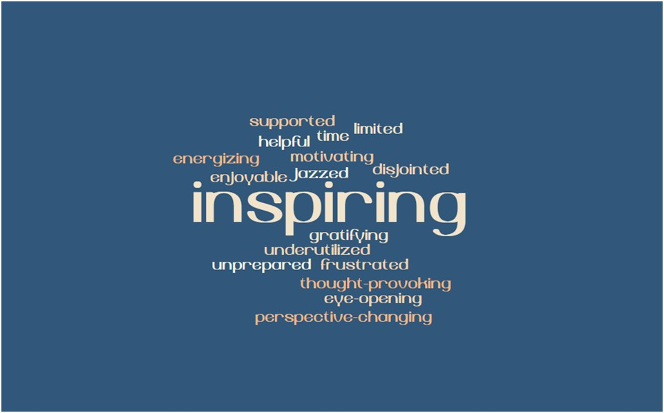 Mentors Blue Word Cloud